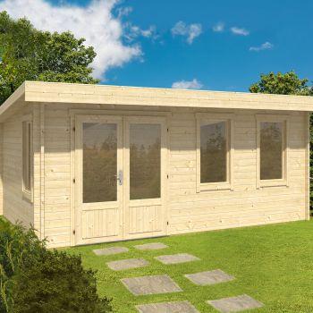 Greenway 5.1m x 3.3m Florence Log Cabin