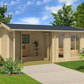 Greenway 5.2m x 3.7m Leighfield Log Cabin