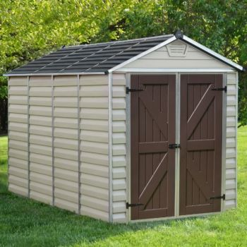 Palram 6' x 10' Skylight Plastic Tan Shed
