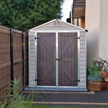 Palram 6' x 12' Skylight Plastic Tan Shed
