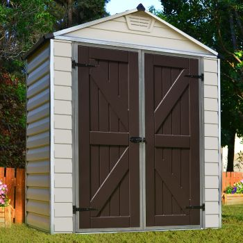Palram 6' x 3' Skylight Plastic Tan Shed