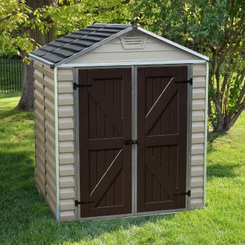 Palram 6' x 5' Skylight Plastic Tan Shed