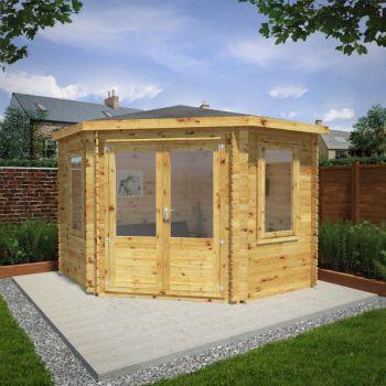 Adley 3m x 3m Somerset Corner Log Cabin