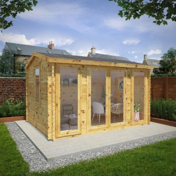 Adley 4m x 3m Home Office Executive Log Cabin