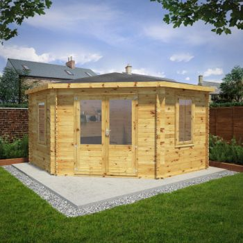 Adley 4m x 4m Somerset Corner Log Cabin