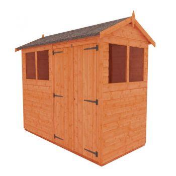 Redlands 4' x 8' Double Door Shiplap Modular Apex Shed