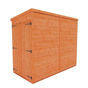 Redlands 4' x 8' Double Door Windowless Shiplap Modular Pent Shed