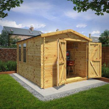 Adley 4m x 3m Ultimate Log Cabin Workshop