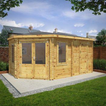 Adley 5m x 3m Dorchester Corner Log Cabin