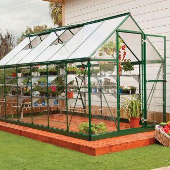 Palram 6' x 12' Nature Hybrid Green Polycarbonate Greenhouse