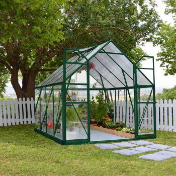Palram 8' x 8' Balance Green Greenhouse