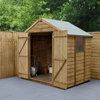 Hartwood 7' x 5' Double Door Overlap Pressure Treated Apex Shed