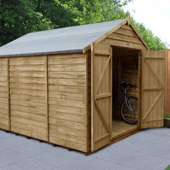 Hartwood 8' x 10' Windowless Double Door Overlap Pressure Treated Apex Workshop