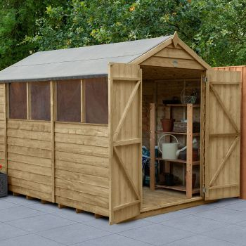 Hartwood 6' x 10' Double Door Overlap Pressure Treated Apex Workshop