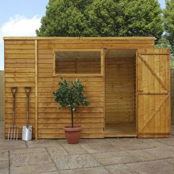 Adley 10' x 6' Overlap Pent Shed