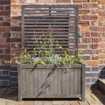 Rowlinson Alderley Grey Planter & Lattice