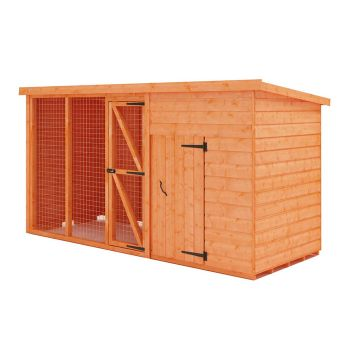 Redlands 4' x 4' Shiplap Pet House With 6' Run