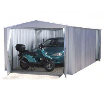 Adley 10' x 20' Double Door Titanium Apex Metal Garage