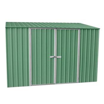 Adley 10' x 5' Double Door Green Titanium Pent Metal Shed