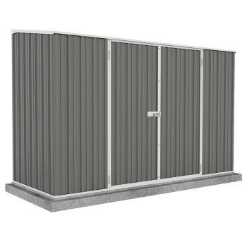 Adley 10' x 5' Double Door Grey Titanium Pent Metal Shed