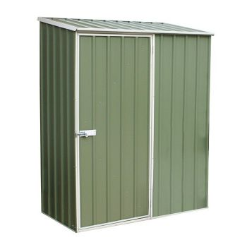 Adley 5' x 3' Green Titanium Pent Metal Shed