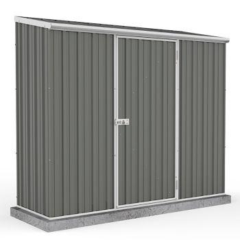 Adley 7' x 3' Grey Titanium Pent Metal Shed