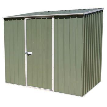 Adley 7' x 5' Green Titanium Pent Metal Shed