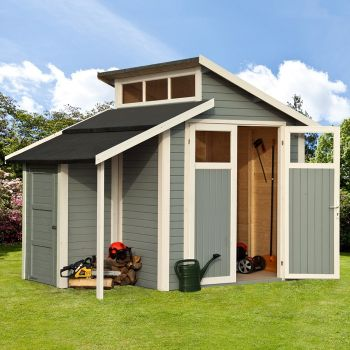 Rowlinson 7' x 7' Skylight Shed With Store - Grey