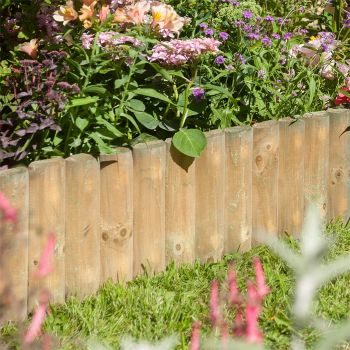 "Rowlinson 6"" Border Fence 1m - Pack of 2"