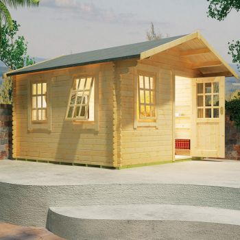 Redlands 3.6m x 3.6m Riviera Log Cabin
