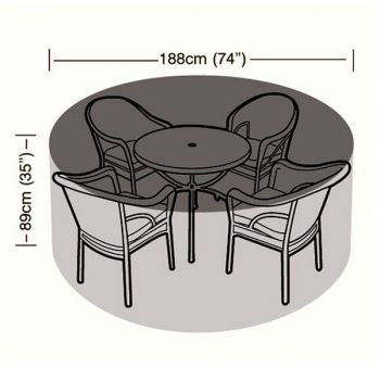 Cover Up - 4/6 Seater Circular Patio Set Cover - 188cm