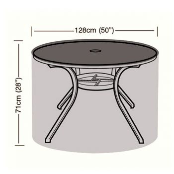 Cover Up - 4/6 Seater Circular Table Cover - 128cm