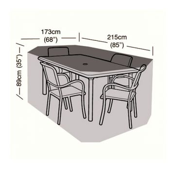 Cover Up - 4 Seater Rectangular Patio Set Cover - 215cm