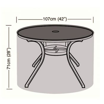 Cover Up - 4 Seater Circular Table Cover - 107cm