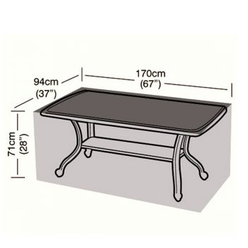 Cover Up - 6 Seater Rectangular Table Cover - 170cm