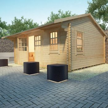 Redlands 6m x 4.8m Valhalla Log Cabin