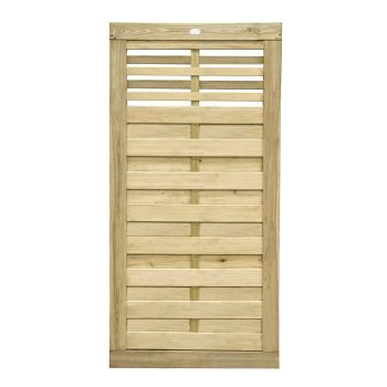 Hartwood 6' x 3' Horizontal Weave Gate With Slatted Top