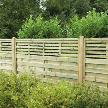 Hartwood 4' x 6' Horizontal Weave Fence Panel With Slatted Top