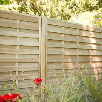 Hartwood 5' x 6' Horizontal Weave Fence Panel