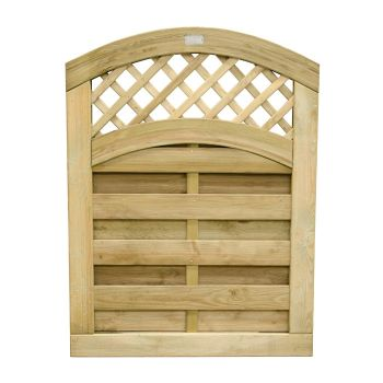 Hartwood 4' x 3' Horizontal Weave Gate With Wavy Trellis