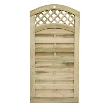 Hartwood 6' x 3' Horizontal Weave Gate With Wavy Trellis