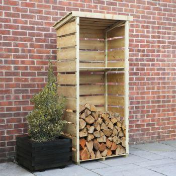 Adley Pressure Treated Tall Log Store