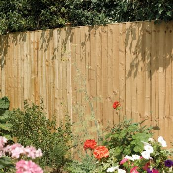 Rowlinson 6' x 6' Pressure Treated Feather Edge Fence Panel
