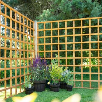 Hartwood 6' x 6' Traditional Trellis Fence Panel