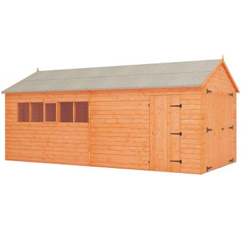 Redlands 10' x 20' Shiplap Apex Wooden Garage