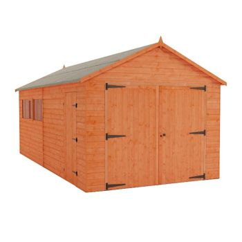 Redlands 10' x 18' Shiplap Apex Wooden Garage