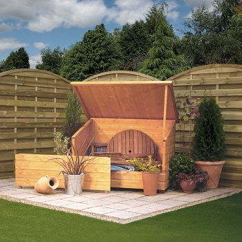Rowlinson Tongue and Groove Garden Storage Chest