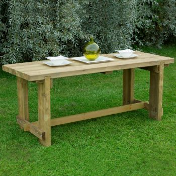 Hartwood 1.8m Sleeper Garden Table