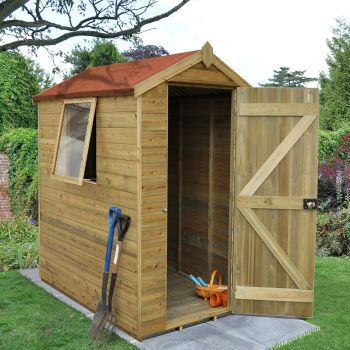Hartwood 4' x 6' Premium Tongue & Groove Pressure Treated Apex Shed