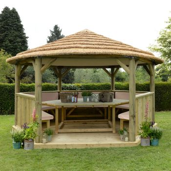 Cushions and roof lining included and available in green, cream or terracotta.